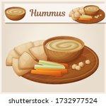 homemade organic hummus with...   Shutterstock .eps vector #1732977524