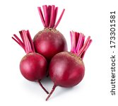 fresh beetroot isolated on white | Shutterstock . vector #173301581