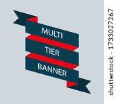 retro ribbon banner vector... | Shutterstock .eps vector #1733027267