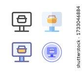 online shop icon design for...