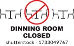 dining room is operating at... | Shutterstock .eps vector #1733049767