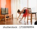 Graceful Ballet Dancer Exercise ...