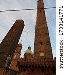 Small photo of A beautiful vertical shot of BasAlica de Santo EstAavAo in Bologna, Italy