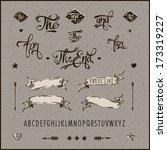 set of vintage hipster labels ... | Shutterstock .eps vector #173319227