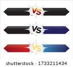 versus  opponent  opposition... | Shutterstock .eps vector #1733211434