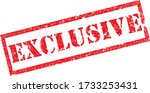 exclusive stamp. red text... | Shutterstock .eps vector #1733253431