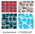 abstract background in shades... | Shutterstock .eps vector #1733281187