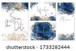 classic blue and gold wedding... | Shutterstock .eps vector #1733282444