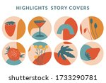 collection of highlight story... | Shutterstock .eps vector #1733290781