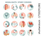 collection of highlight story... | Shutterstock .eps vector #1733291381