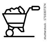 full ground wheelbarrow icon....   Shutterstock .eps vector #1733307374