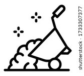 full wheelbarrow icon. outline...   Shutterstock .eps vector #1733307377