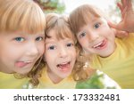 unusual low angle view portrait ... | Shutterstock . vector #173332481