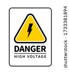 danger high voltage attention... | Shutterstock .eps vector #1733381894
