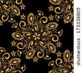 seamless floral pattern   Shutterstock .eps vector #173338805