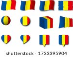 various designs of the chad...   Shutterstock . vector #1733395904