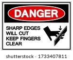 Danger Sharp Edges Will Cut...