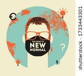 new normal conceptual retro... | Shutterstock .eps vector #1733443301