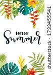 hello summer calligraphy card....   Shutterstock .eps vector #1733455541