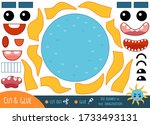 education paper game for... | Shutterstock .eps vector #1733493131