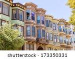 san francisco victorian houses... | Shutterstock . vector #173350331