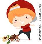 illustration of a kid boy doing ... | Shutterstock .eps vector #1733503781