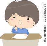 illustration of a kid boy...   Shutterstock .eps vector #1733503784
