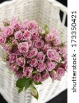 pink bouquet roses flowers on... | Shutterstock . vector #173350421