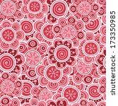 seamless pattern of flowers | Shutterstock .eps vector #173350985