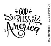 god bless america   happy... | Shutterstock .eps vector #1733549504
