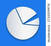 paper cut pie chart infographic ...