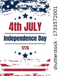 usa independence day card.... | Shutterstock .eps vector #1733572001