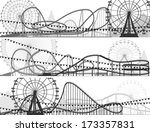 set of banners of roller... | Shutterstock .eps vector #173357831