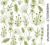 retro set of 100  bio  organic  ... | Shutterstock .eps vector #1733585894