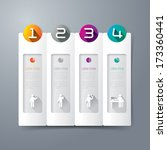abstract 3d digital... | Shutterstock .eps vector #173360441