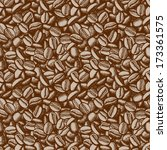 coffee beans vector seamless.... | Shutterstock .eps vector #173361575