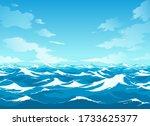 Ocean Surface. Sea Vector...