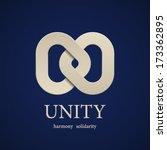 vector unity symbol design... | Shutterstock .eps vector #173362895