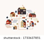 illustration with different... | Shutterstock .eps vector #1733637851