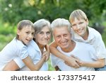older man and woman with their... | Shutterstock . vector #173375417
