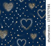 vector romantic space seamless... | Shutterstock .eps vector #1733757581