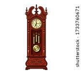 antique grandfather pendulum... | Shutterstock .eps vector #1733760671