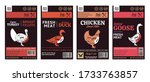 vector butcher's shop poultry...   Shutterstock .eps vector #1733763857