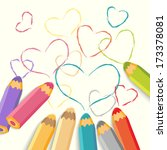 Color Pencils With Hearts....