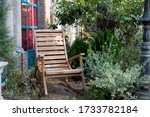 Rocking Chair On Pebbles In The ...