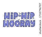 hand drawn hip hip hooray quote.... | Shutterstock .eps vector #1733796707