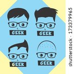 geek and nerd man avatar... | Shutterstock .eps vector #173379965