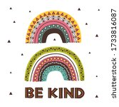 poster with kind tribal rainbows | Shutterstock .eps vector #1733816087