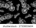 white chalk hand drawn ...   Shutterstock .eps vector #1733833604