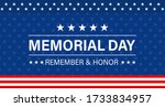 memorial day background. vector ... | Shutterstock .eps vector #1733834957